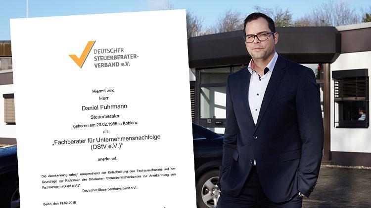 Daniel Fuhrmann ist Fachberater für Unternehmensnachfolge